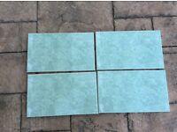 Green tiles, new, 20cm x 33 cm, pack of 18