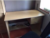 simple desk with 2 drawers