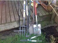 Garden spade folk rakes