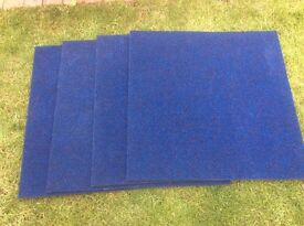 30 Brand new royal Blue Carpet Tiles. They are 19 inches square