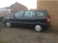 Vauxhall Zafira black, for repair or spares