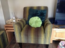 Green striped chair from Next