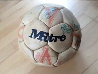 Signed Wales v Holland football 1989