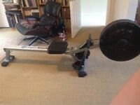 Rowing machine- make Roger black