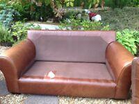 Laura Ashley leather (Bradford) 2 seater sofa/settee