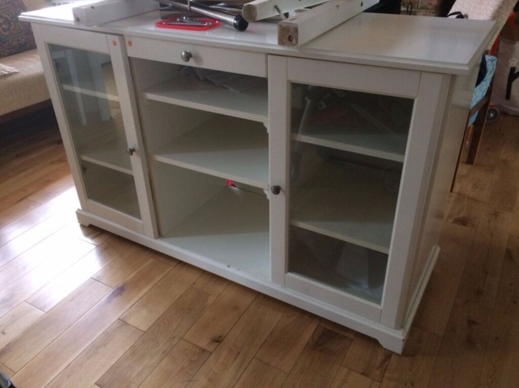 ikea liatorp sideboard cabinet tv unit white in. Black Bedroom Furniture Sets. Home Design Ideas