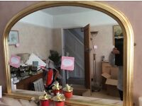 Large mantle mirror excellent condition