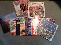11 vinyl LP records.