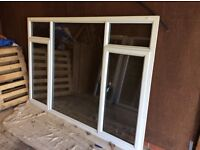 Various sizes double glazed windows white upvc