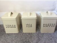 Vintage tea coffee sugar kitchen canisters containers tins
