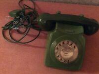 Retro green phone
