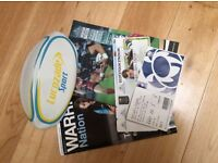 Mini Rugby Ball, Glasgow Warriors & Scotland Rugby Programmes (Warrior Nation) and Used Tickets