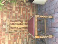 Antique Oak Dining Chair, barley twist legs