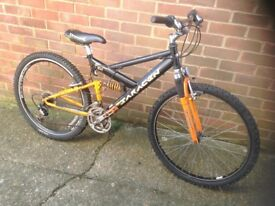 Adults Saracen Dual Suspension mountain bike 21 Speed