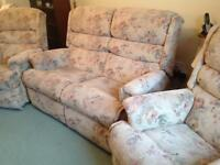 Lounge furniture sofa and two armchairs