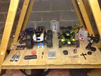 Traxxas tmaxx & gs racing buggy nitro rc