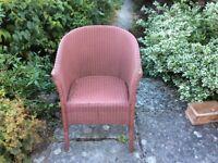 """Lloyd Loom vintage """"Lusty"""" chair"""