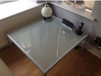 Grey colour opaque Glass top coffee table