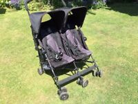 "Maclaren ""twin triumph"" double buggy/ pushchair"