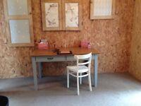Retro oak painted desk table suitable four/six people dining
