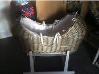 Moses Basket and Stand ( NEW ,NEVER USED )