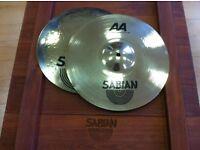 """aa fusion 13""""hi hat cymbals ,new"""
