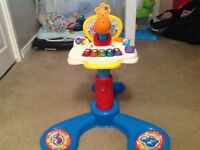 Sit and bounce and baby piano with micro phone