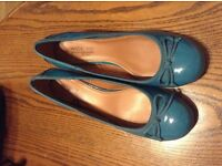 Ladies size 9 blueish dolly shoes from next