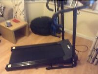 Electronic display treadmill