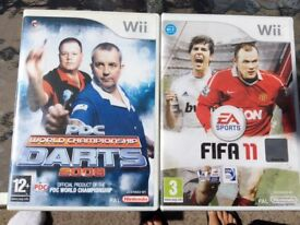 Wii games DVD's Football & Darts