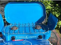 Double camping gas cooker