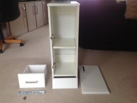 250x300 Gloss White Bathroom Cabinet