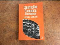 Construcqtion economics: an introduction by Stephen L Gruneberg ISBN 9780333655412