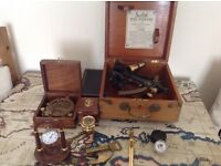 Naval items as shown including silver pocket watch by dennison