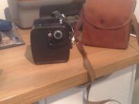 Vintage Agfa Gevabox Roll Film Camera and case