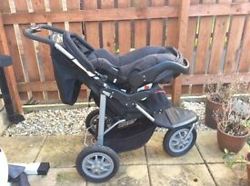 Mothercare 3 in 1 pushchair