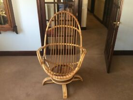 Angrave retro style cane rocker chair