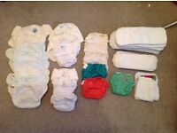 Real nappies - complete kit, birth to potty. Value as new £300