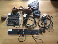 Various Reptile equipment including HabiStats and Heatmats