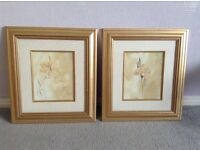 Pair of floral pictures