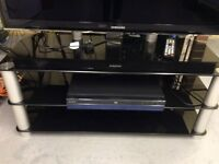 Black & chrome TV stand excellent condition!