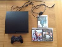PlayStation 3 slim with games