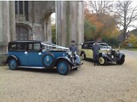 Two 1930's Rolls Royce Wedding cars with liveried chauffers