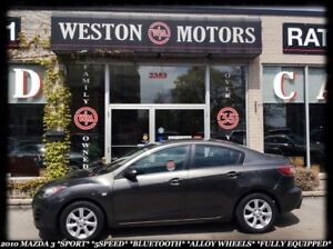2010 Mazda MAZDA3 *SPORT *5SPEED *BLUETOOTH *ALLOY WHEELS *FULLE