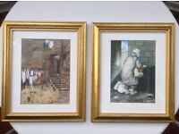 Pair of framed Avril Paton prints - £10