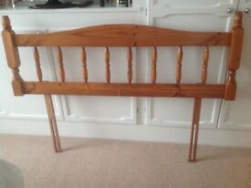 Double Wooden Headboard. Excellent condition.