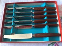 Boxed Set of Butter Spreaders. Unused.