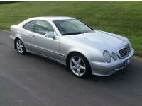 2001 MERCEDES CLK 230 KOMPRESSOR * FULL BLACK LEATHER INTERIOR * ONLY 88,000 GENUINE MILES * MINT