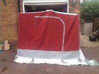 Trio Annexe for Awning hardly used you can stand up in this and it zips in a KK zip