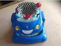 Mothercare blue car Walker / play station